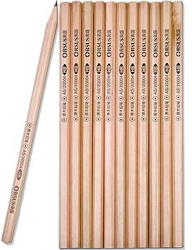 Home Tools.EU® - 12 x Lapiceros | - Lápices (Madera, Madera sin tratar | dibujar abocetar Oxford de lápiz, HB, 12 unidades: Amazon.es: Oficina y papelería