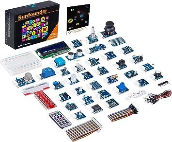 SunFounder 37 Modules Sensor Kit V2.0 for Raspberry Pi 4, 3, 2 and ...