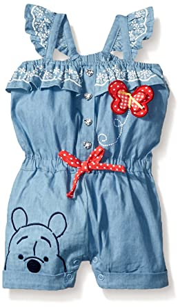 94015f31b3e4 Amazon.com  Disney Baby-Girls Winnie The Pooh Romper  Clothing