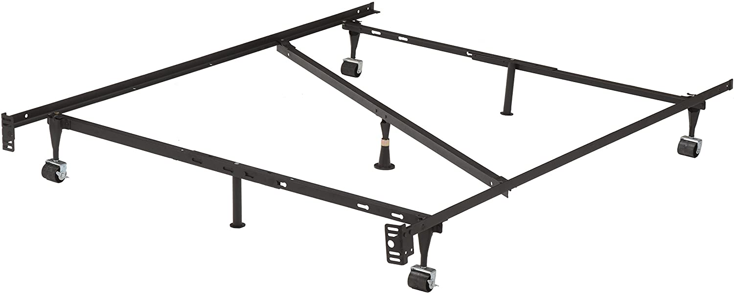 2K Furniture Designs Bed Frame, Full, Black