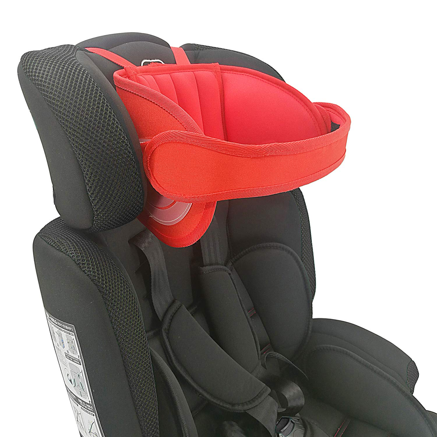 Adjustable Child Car Seat Head Support, Universal Suitable for Both Children and Adults, Head Protect Pad on Child Car Seat, Safety Car Sleeping Headrest for Child, Infants, Toddlers and Adults (Red) by Cozyin Baby