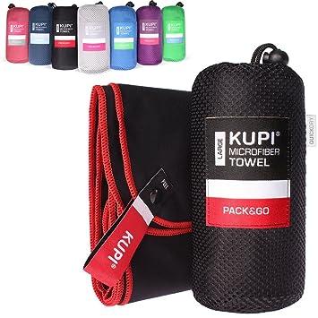 Kupi microfibra Toallas de mano en S M L XL XXL – Toalla de viaje fácil absorbente y