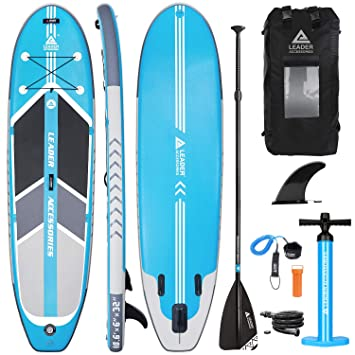 Leader Accessories Tabla Paddle Surf Hinchable 320x81.28x15.24cm ...
