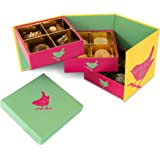 Jenny Wren BELGIAN CHOCOLATES - Original Collection Gift box 168g: An assorted mix of Milk, White and Dark hand-finished Belgian Truffles and Chocolates. The perfect gift for Birthday, Thank you presents and MOTHERS DAY!