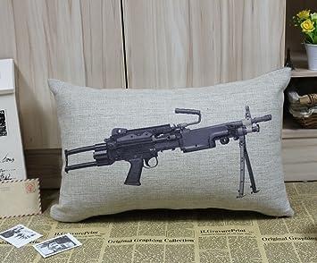 Amazon.com: linkwell 50 x 30 cm M249 Luz Machine Gun Pistola ...