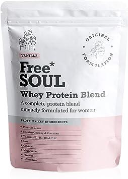 Free Soul Proteína Whey en Polvo Mujer/Whey Protein | 80% Con ...