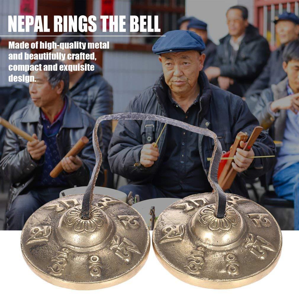 Tingsha Tibetan Bell Meditation Handcrafted Cymbal Bell Copper Crisp Sound