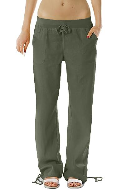 outlet store 433c1 082de Pantaloni Bestyledberlin Donna, pantaloni di lino, casual Donna pantaloni  j98a