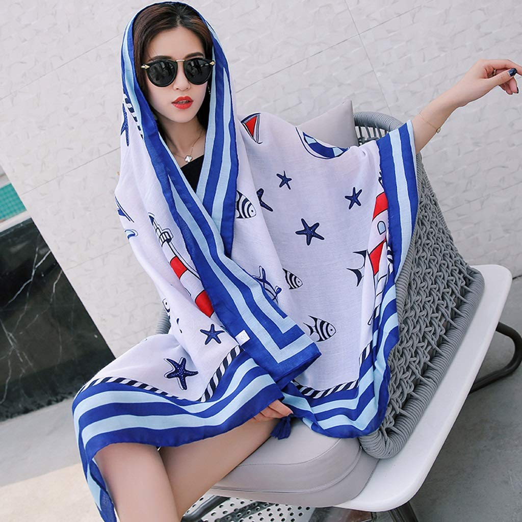 Ethnic Style Cotton and Linen Scarves Ladies Oversized Travel Shawl Long Retro Tassel Pendant Beach Towel Sunscreen Warm Multi-Design (Edition : E)