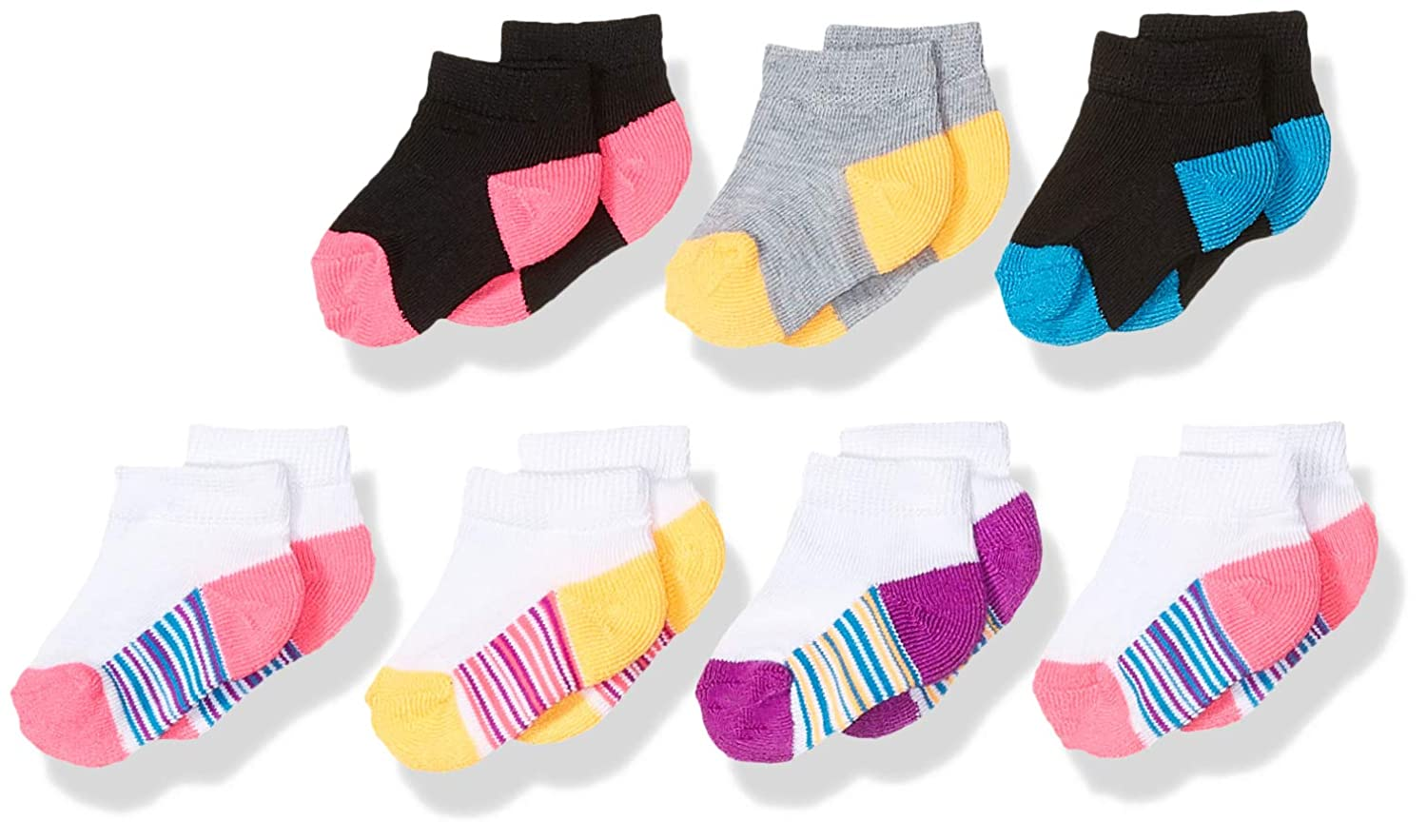 Fruit of the Loom Toddler Girls Everyday Active Low CutSocks 7 Pair
