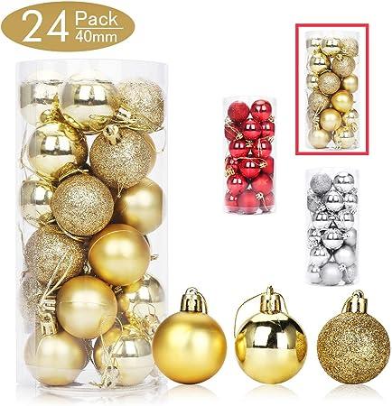 Pack de 10 arbre de Noël paillettes GOUTTE Baubles