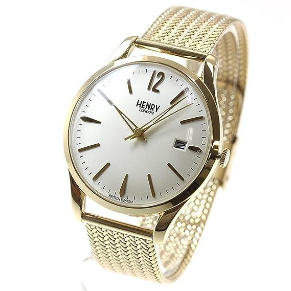 Henry London HL39-M-0008 de Westminster del Reloj Hombres Mujeres: Amazon.es: Relojes