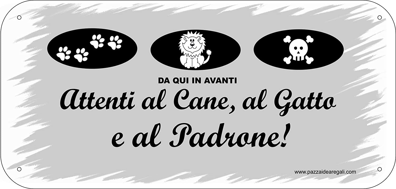17,5x12,5 cm Targhe con Nastrino sul tema Cane e Gatto