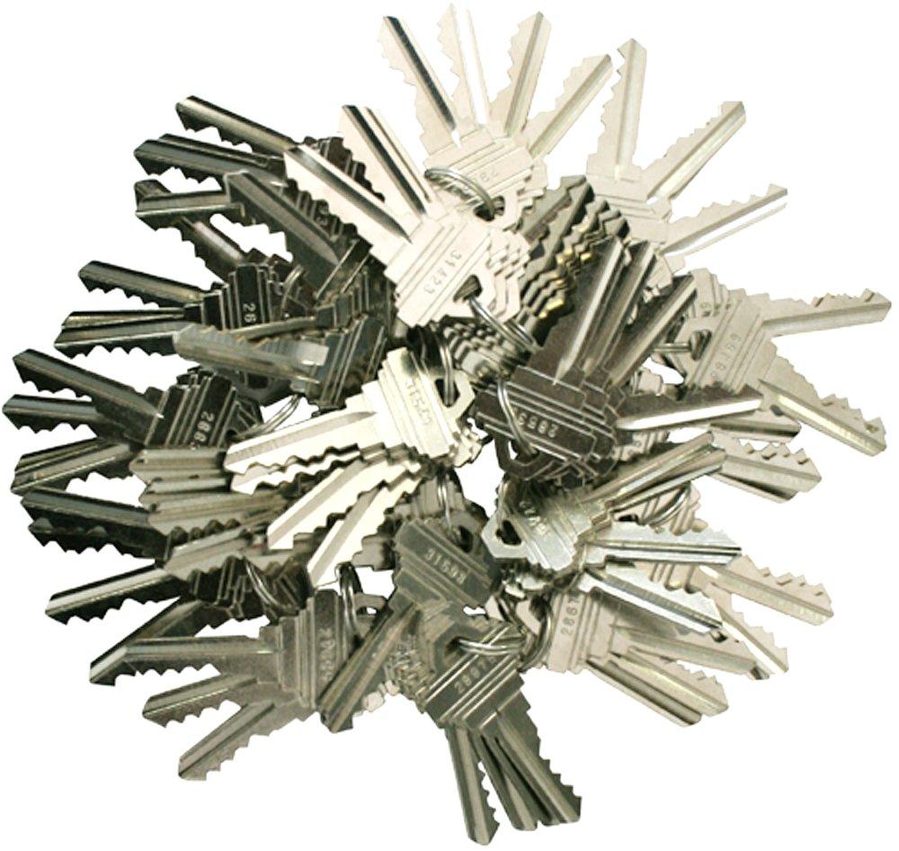 100 Pieces SC1/SC4 Compatible Precut Keys 5 Pins 25 Sets of 4 Keys Locksmith