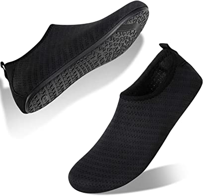 Unique Water Shoes for Womens Mens Quick-Dry Aqua Socks Barefoot Shoes for Water Sports Yoga Exercise