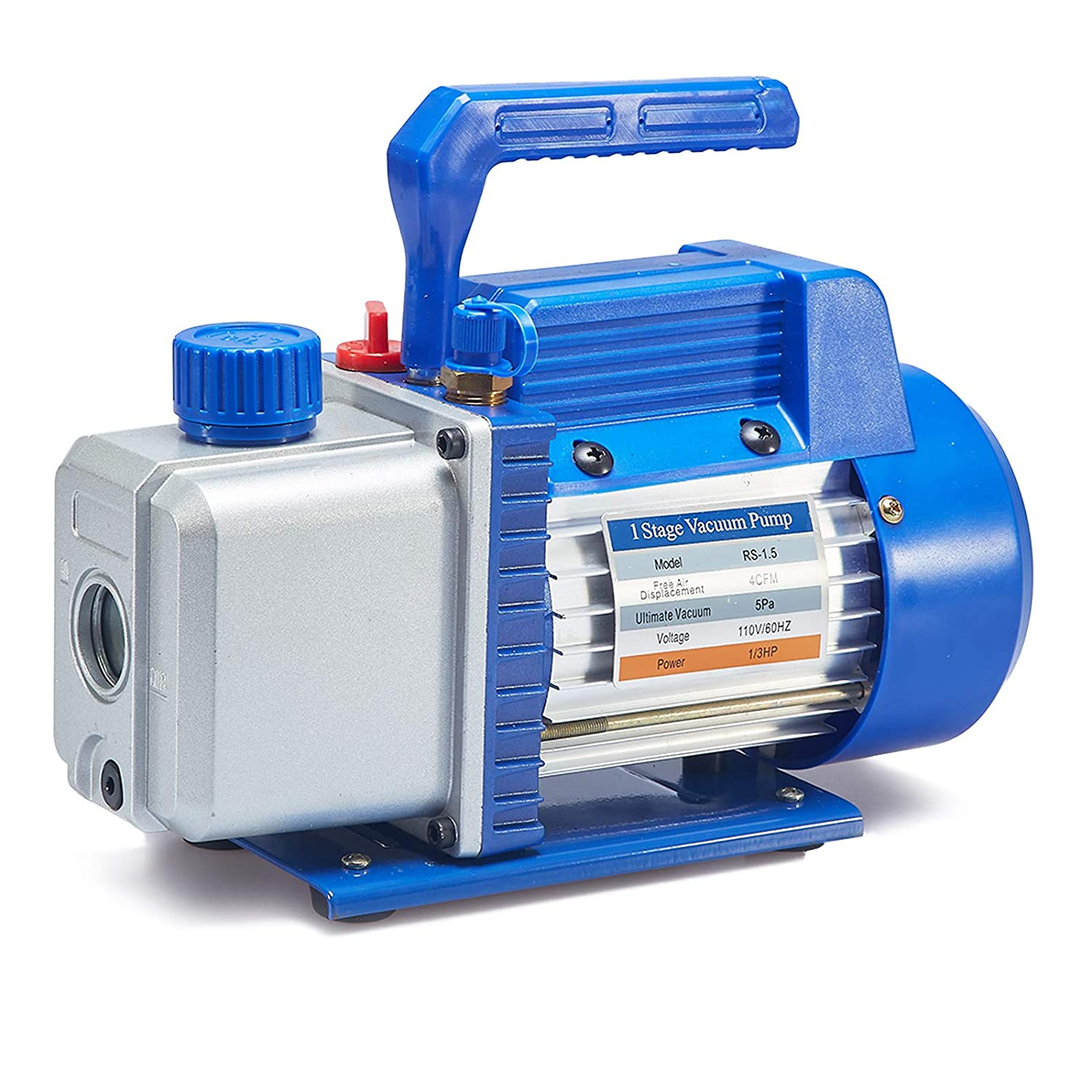 NewPosition Rotary Vane Vacuum Pump for HVAC, Air Conditioner Refrigerant,Food Packaging,Milking,Medical etc (4.0 CFM)