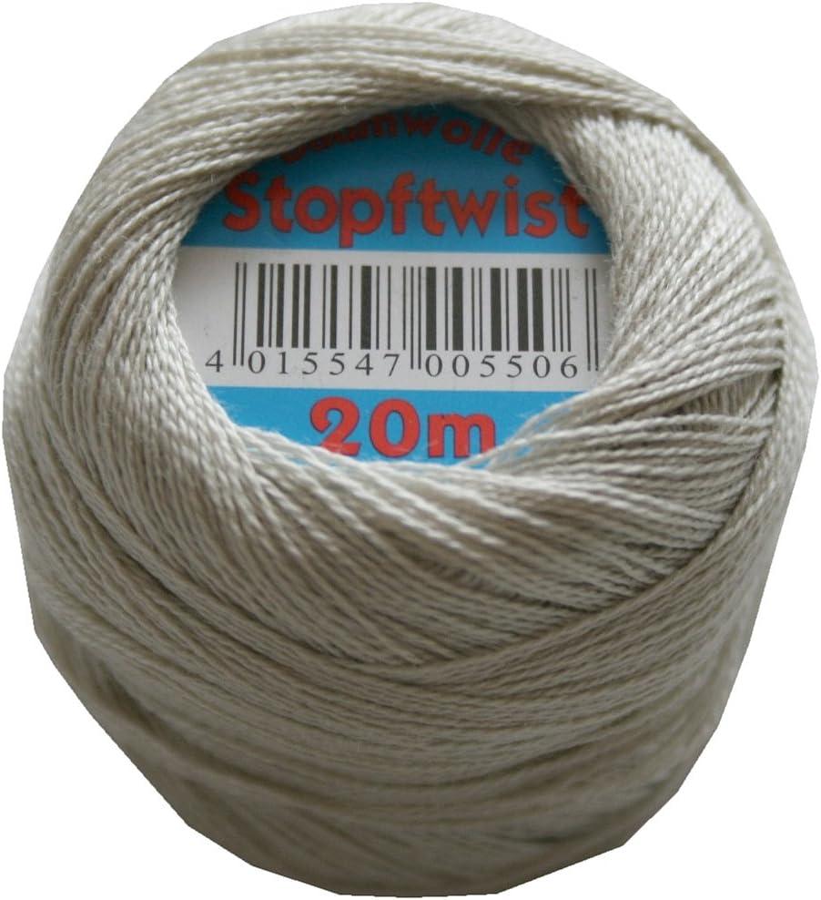 zurcir stopfgarn algodón mercerizado 20 m gris (0864 de 8 aumentos ...