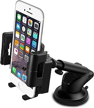 DaoRier KFZ Halterung Handyhalterung 360 Grad Universal Sauger Saugnapf Windschutzscheibe Autohalterung Auto Halter f/ür iPhone 4 4s 5 5s se 6 6s 7 Plus Galaxy S4 S5 S6 S7 Huawei Sony Navi Blau