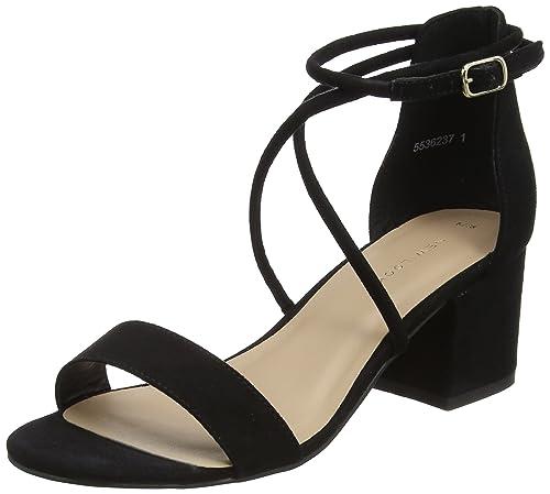 New Look Salamanca Sandali con Cinturino alla Caviglia Donna Nero Black