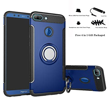 Labanema Honor 9 Lite Funda, 360 Rotating Ring Grip Stand Holder ...