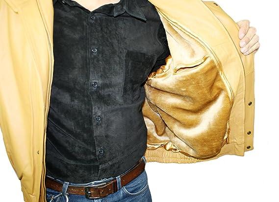 Amazon.com: Para hombre auténtica Pig Napa doble pecho color ...