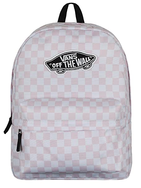 beee6e77fa Vans realm chalk pink white checkerboard backpack checkerboard flame cool  boys backpacks vans jpg 455x606 Checkerboard