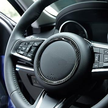 Pegatinas de fibra de carbono estilo rueda de ABS para Jag XF XFL XE F-TYPE F-PACE X761 accesorios: Amazon.es: Coche y moto