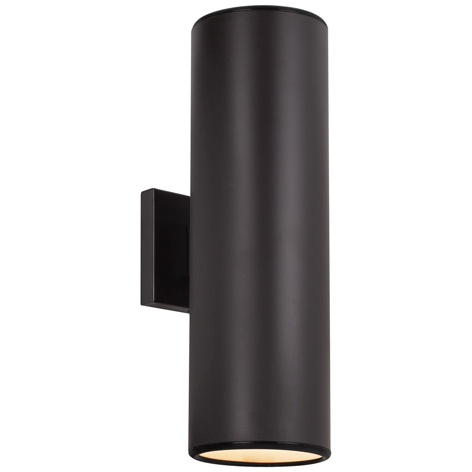 "Kira Home Enzo 16"" 2-Light Modern Metal Light/Wall Sconce, for Use in Damp Location Only, Oil Rubbed Bronze Finish"