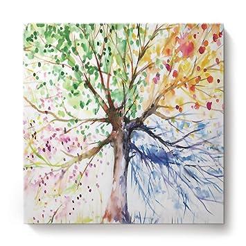 Amazon Com Wazzit Colorful Tree Canvas Prints Wall Art Oil