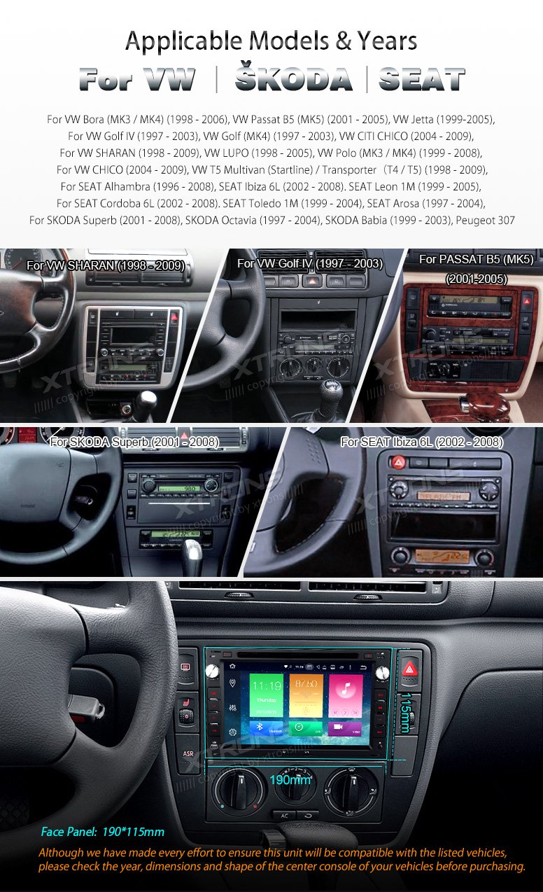 XTRONS Android 6.0 Octa-Core 64Bit 7 Inch Capacitive Touch Screen Car Stereo Radio DVD Player GPS CANbus Screen Mirroring Function OBD2 Tire Pressure Monitoring for VW Passat B5 MK3/4/5 by XTRONS (Image #3)