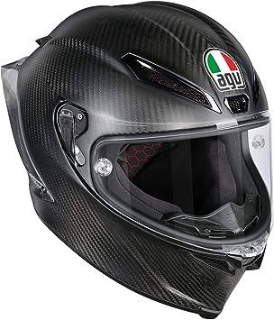 AGV Casco Moto Pista GP R E2205 Solid plk, Matt Carbon, ...