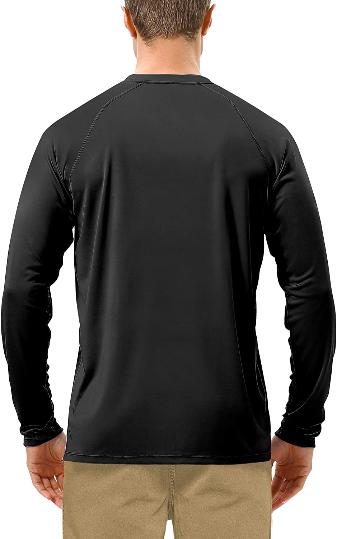 UV Outdoor Long Sleeve Dri-fit T-Shirt Rashguard Shirts for Running Roadbox Mens Sun Protection UPF 50 Fishing Hiking