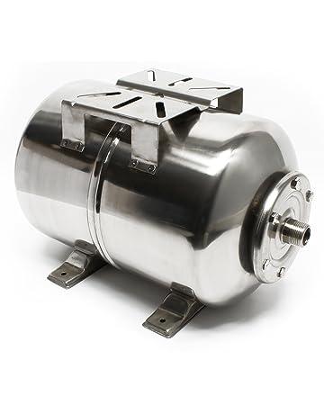 Recipiente de expansión de acero inoxidable de 24L con diafragma de presión.