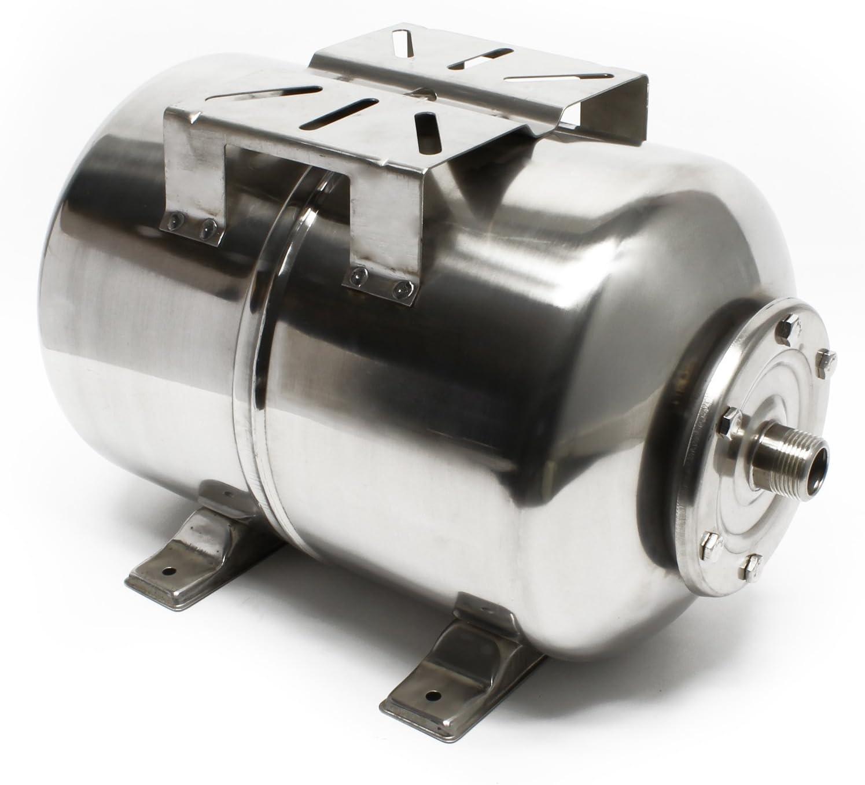 Vaso de expansión acero inoxidable 50L, depósito de presión, calderín para grupo de presión doméstic