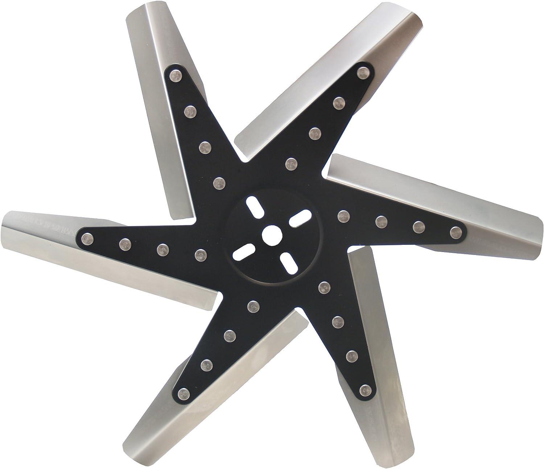 "Derale 19117 17"" High Performance Stainless Steel Flex Fan Standard Rotation"