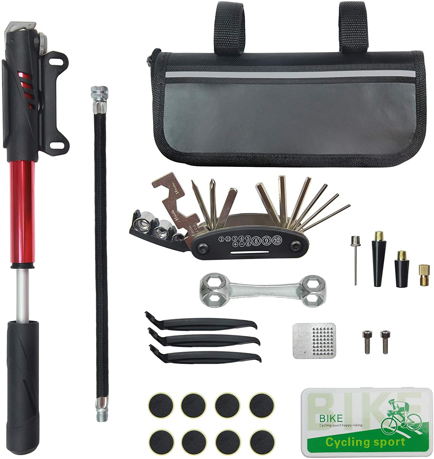 Bicycle Repair Set Flick Stuff 7 Pieces Incl 2 Tyre Levers Tire Patch Flicks