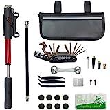 CHUMXINY Bike Repair Kit, Bike Tire Repair Tool Kit Contains 16-in-1 Tool,120Psi Mini Bicycle Pump, Bike Patch Kit, Used for