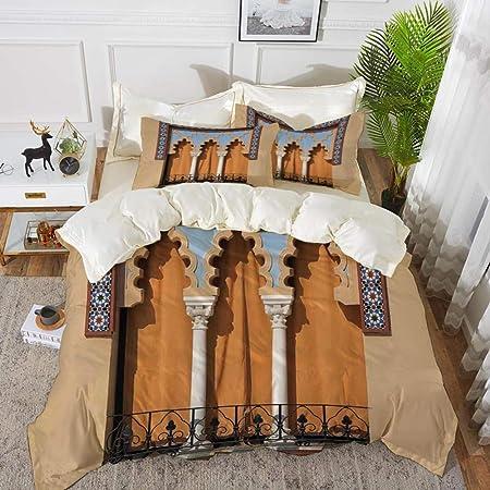 ropa de cama - Juego de funda nórdica, árabe, ventanas antiguas en estilo árabe en Córdoba España