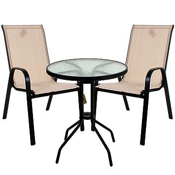 Marko Outdoor Cream Textoline Garden Furniture Set Outdoor Patio ...