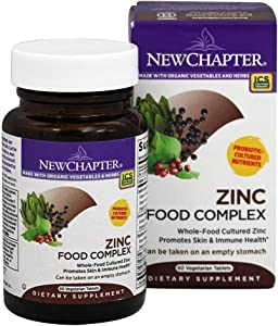 New Chapter Zinc Food Complex, 60 Tablets (Pack of 3)