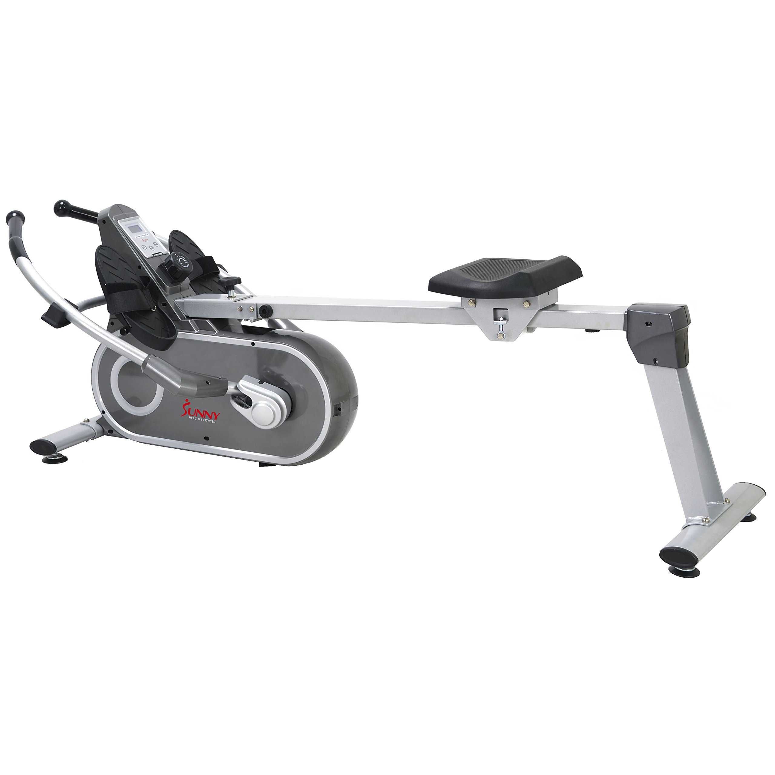 Sunny Health & Fitness SF-RW5624 Full Motion Magnetic Rowing Machine Rower w/ LCD Monitor by Sunny Health & Fitness (Image #1)