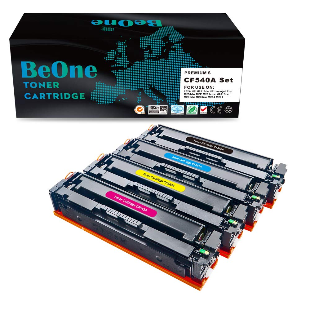 BeOne Cartucho de tóner HP CF540A CF540X CF541A CF542A CF543A 203A ...