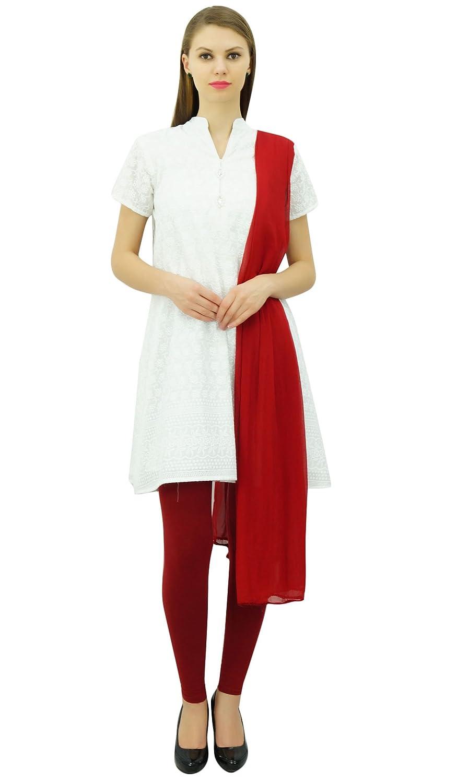 Atasi Cotton Straight Bestickter Designer Tunikaanzug Salwar Set Dress