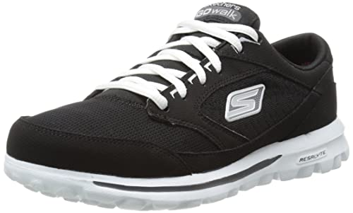 9dc4f84b52df9 Skechers - Zapatillas para Mujer Negro Negro Blanco  Amazon.es  Zapatos y  complementos