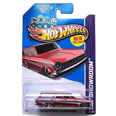 2013 Hot Wheels Hw Showroom '64 Chevy Nova Station Wagon 195/250: Toys & Games