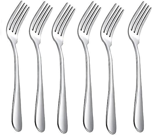 HornTide 6-Piece Dinner Forks Set Tenedores 4-Tines Tabla Tenedor ...