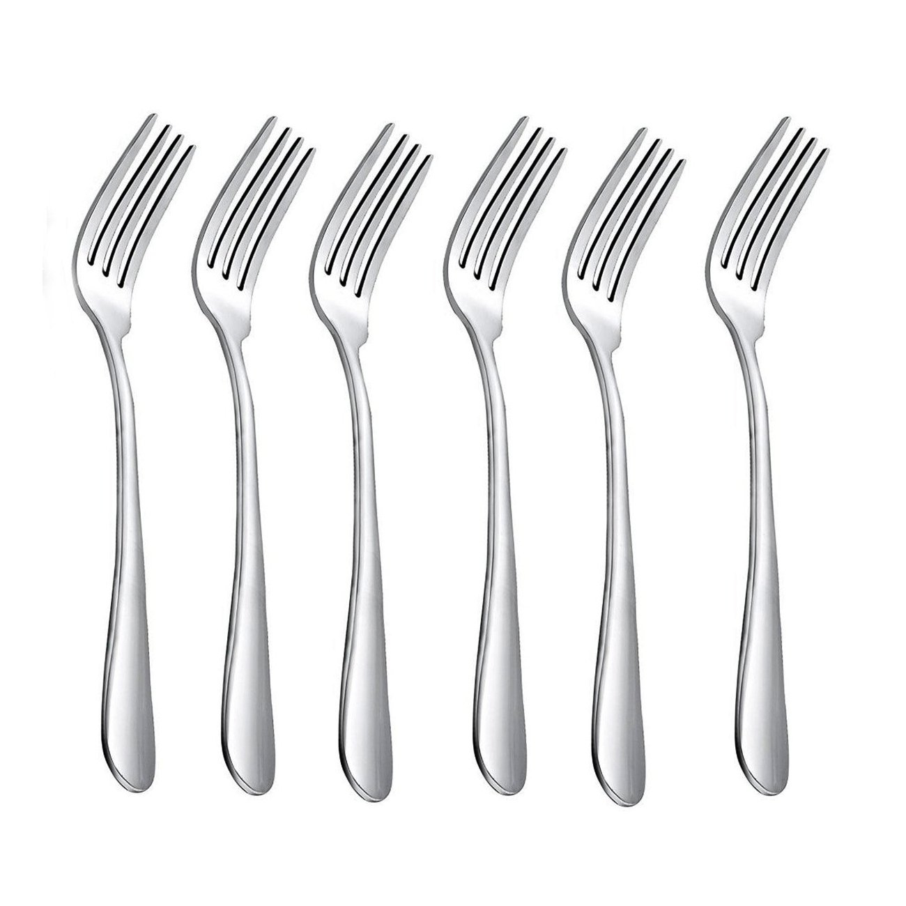 HornTide 20-Piece Dinner Forks Set 4 Tines Table Fork Flatware Stainless Steel Mirror Polishing 7-Inch 18cm