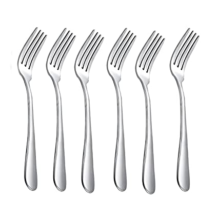Amazon.com | HornTide 6-Piece Dinner Forks Set 4 Tines Table Fork ...