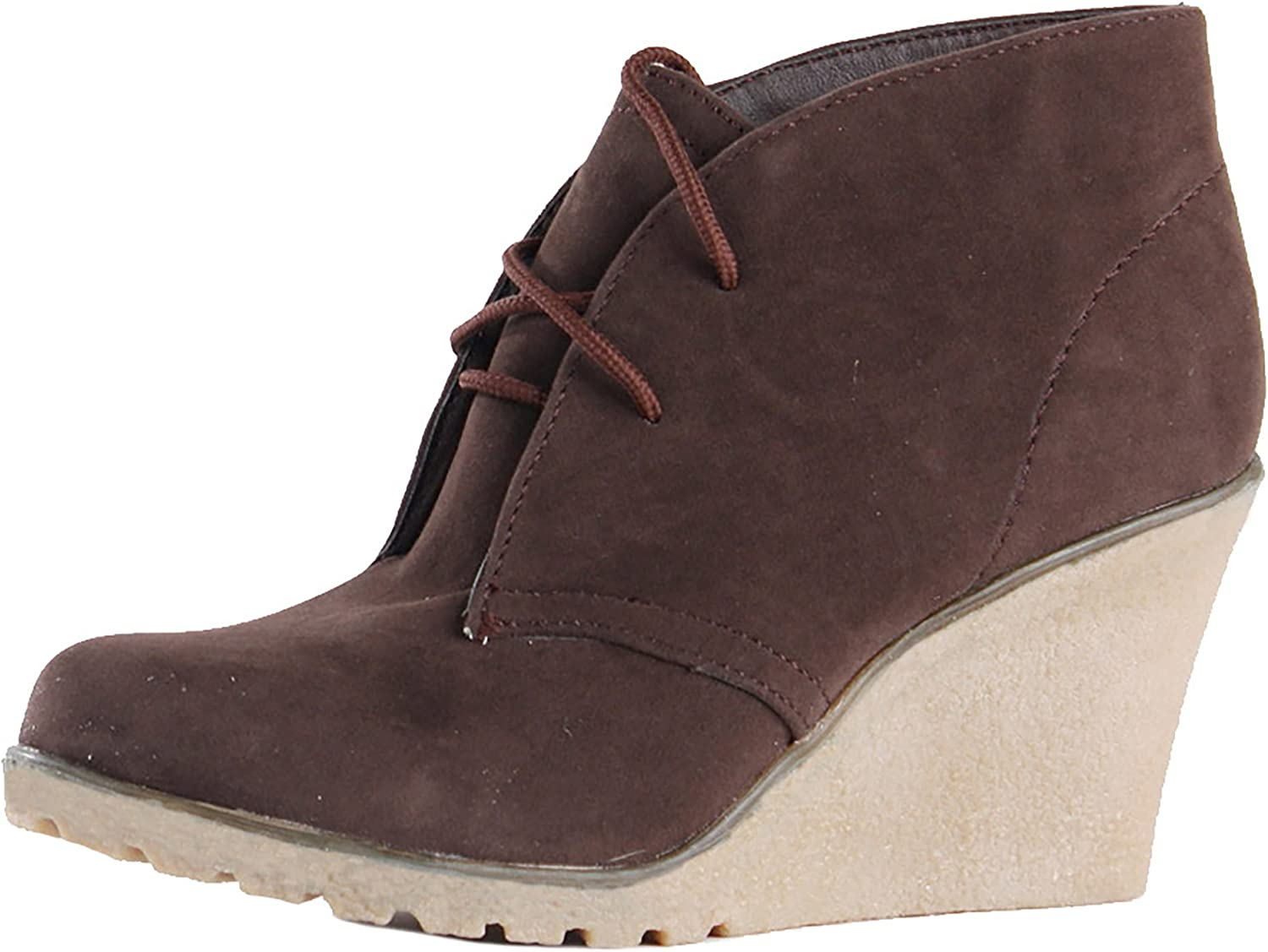 Suede Wedges High Platform Ankle Boots