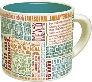 First Lines Literature Coffee Mug - The Greatest Opening Lines Of Literature, From Anna Karenina to Slaughterhouse Five - Comes in a Fun Gift Box - by The Unemployed Philosophers Guild